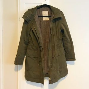 Zara Trafaluc Army Green Utility Jacket